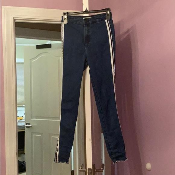 Zara trafaluc Denim high waist skinny jeans